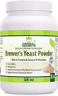 Herbal Secrets Brewer's Yeast Powder (16 oz) 1 lb (Non-GMO) - Allergen Free - Supports Heart & Digestive Health, Supports Healthy Blood Glucose Level*