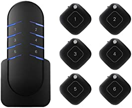eFamily | Complete Key Finder Tile System | Wireless RF Remote & 6 Receivers Pack | Find Lost Items Backpack Wallet Purse Phone | Long Range Transmitter Tracker Locator