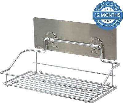 HOKIPO® Magic Sticker Series Self Adhesive Chrome Plated Metal Kitchen Bathroom Shelves