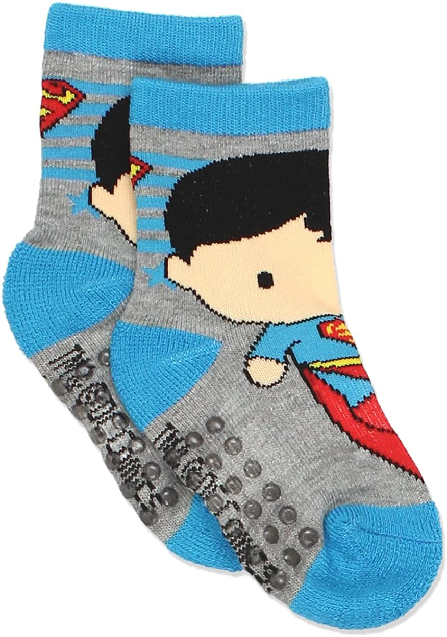 DC JUSTICE LEAGUE Boys 6 Pack Crew Socks Baby//Toddler//Little Kid Infant 2T~5T