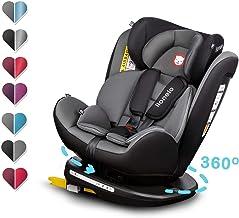 0-36 kg Clamaro Ranger 360 4in1 Isofix Autokindersitz Gruppe 0+ II und III mitwachsender Baby- und Kinderautositz 0 bis 12 Jahre I silber verstellbare Kopfst/ütze und R/ückenlehne 360/° drehbar