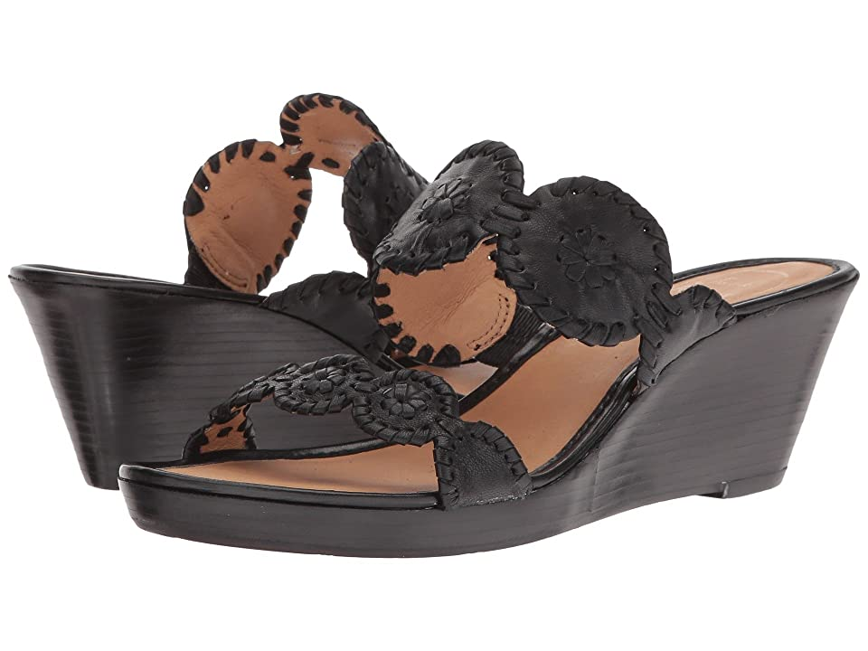Jack Rogers Shelby Stacked (Black) Women