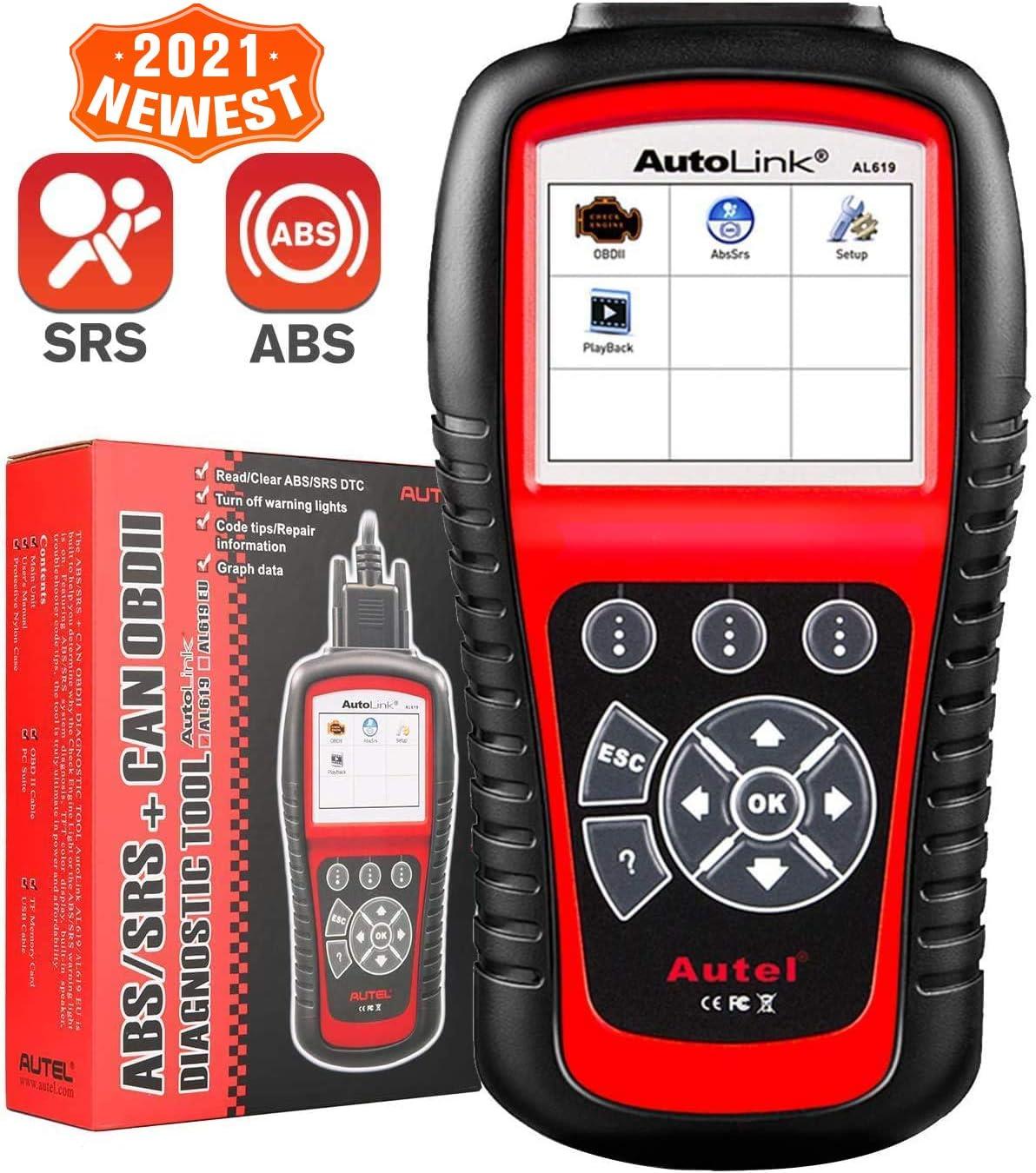 Autel Autolink AL619 ABS SRS Auto OBD2 Scanner Car Code Reader Automotive Diagnostic Tool