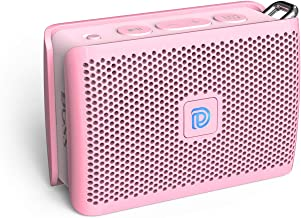 DOSS Genie Portable Bluetooth Speaker with Clean Sound, 33ft Bluetooth Range, Built-in Mic, Ultra-Portable Design, Wireless Speaker Compatible for Home, Outdoors, Travel - Pink