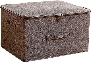 Bacs de rangement avec couvercle, boîte de rangement pliable, organisateur de garde-robe, panier for panier de pépinière a...
