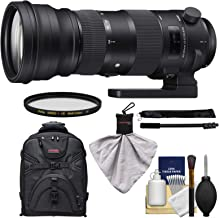 Sigma 150-600mm f/5.0-6.3 Sports DG OS HSM Zoom Lens + Backpack + Filters + Monopod Kit for Nikon D3300, D5500, D7100, D7200, D610, D750, D810, D4s Cameras