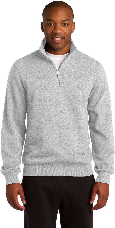 Sport-Tek Men's Tall 1/4 Zip Sweatshirt - Athletic Heather TST253 2XLT
