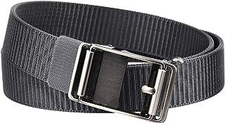 Nylon Web Belts with Automatic Slide Buckle, Men's Ratchet Dress Belt Golf Belt Adjustable No Hole