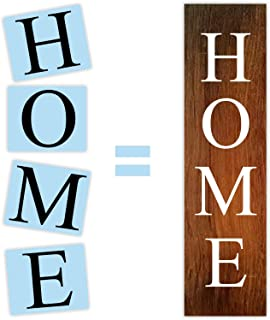Home Porch Stencil for Painting Wood Signs, Reusable & Sturdy, by Barn Star