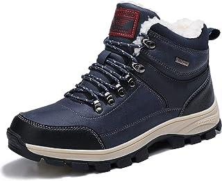 comprar comparacion ARRIGO BELLO Hombre Botas Botines Zapatos Invierno Botas de Nieve Cálido Fur Forro Aire Libre Boots Urbano Senderismo Esqu...