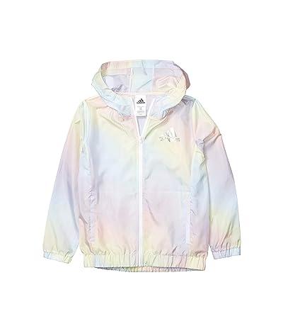 adidas Kids Iridescence Wind Jacket (Big Kids) (Light Blue) Girl
