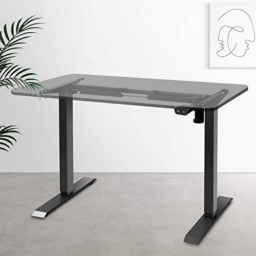 Artiss Height Adjustable Electric Motorised Standing Desk Frame Office Sit Stand Table Laptop Computer Home Workstati...