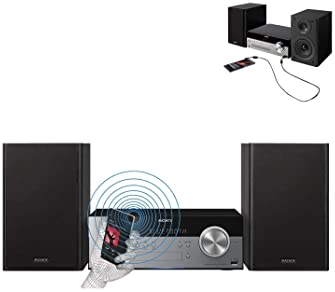 Sony All-in-one Stylish Micro Music Hi-Fi Bookshelf Stereo System for Home with Bluetooth & NFC, USB, CD Player & AM/...
