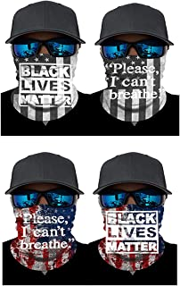 ATIMIGO Black Lives Matter I Can't Breath Neck Gaiter Face Mask Mouth Cover Bandanas Multifunctional Headwear Balaclavas f...