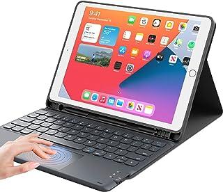 iPad 8世代 キーボード ケース タッチパッド付き ipad 10.2 キーボード ケースiPad7世代キーボード[2020/2019モデル] Bluetooth キーボードカバー オートスリープ 脱着式 多角度調整 傷つけ防止 耐久性 [...