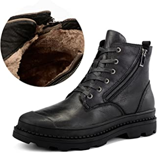 RAINSTAR Men's Genuine Leather Working Shoes Martin Ankle Boots Combat Boot