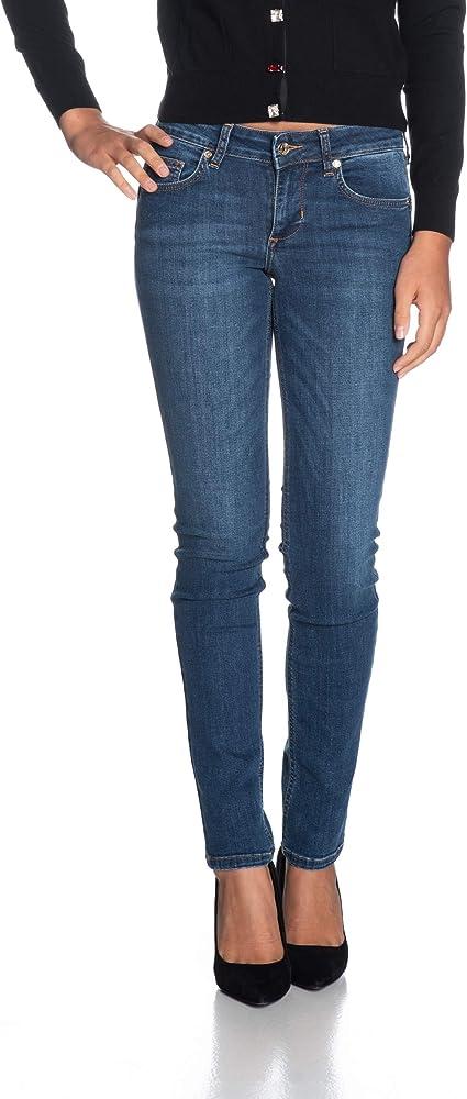 Liu jo jeans ,blue denim, jeans per donna a vita alta,86% cotone, 12% poliestere, 2% elastan UXX028D418677539