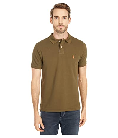 Polo Ralph Lauren Custom Slim Fit Mesh Polo (Defender Green) Men