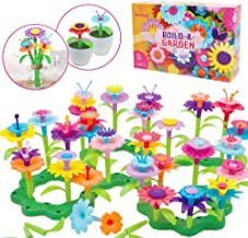 Mochoog Flower Garden Building Toys for Toddlers - BuildaBouquetFloralArrangementPlayset - 109 PCS Arts and Crafts for Kids - Birthday Gifts for 3 4 5 6 7 Years Old Boys Girls