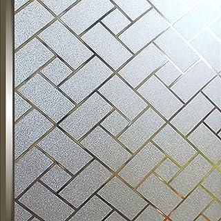 AIDON 窓 めかくしシート 窓ガラス 窓用フィルム 装飾 遮光 断熱 紫外線カット ガラスフィルム (90*200)