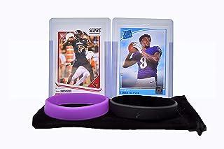 Lamar Jackson Rookie Card Bundle (2) football Cards, 2 RC - Baltimore Ravens Trading Cards
