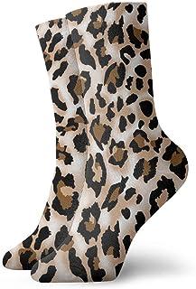 Jhonangel, Estampados de leopardo Calcetines estampados Calcetines divertidos Calcetines locos Calcetines casuales para niñas Niños