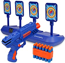 Digital Shooting Targets with Foam Dart Toy Shooting Blaster , 4 Targets Auto Reset Electronic Scoring Toys, Shooting Toys...
