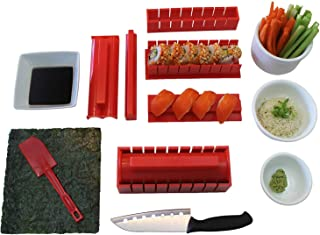 Sushi Making Kit, Tigersushi Next Gen 11 Piece Sushi Set Sushi Rolling Kit, With Sushi Chef Knife & Utensils Making Sushi Rolls Fun and Easy-FDA Approved Making Sushi Rice and Sushi Bazooka Easy