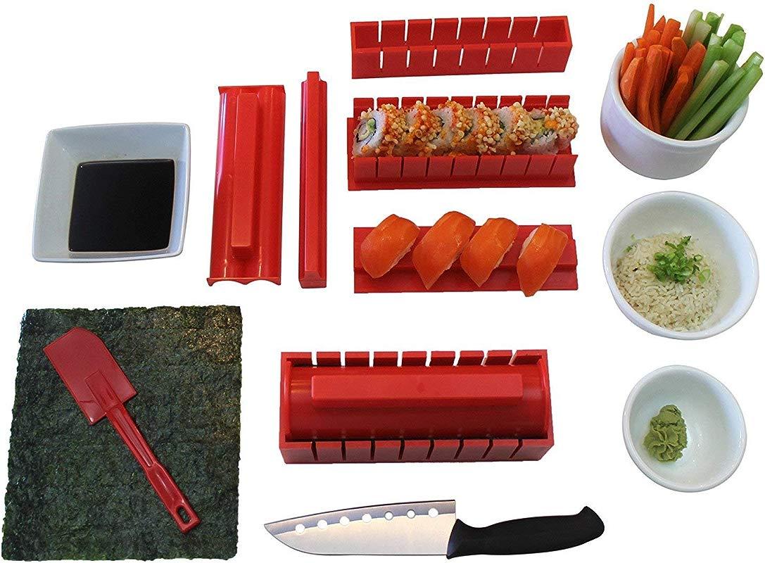 Sushi Making Kit Tigersushi Next Gen 11 Piece Sushi Set Sushi Rolling Kit With Sushi Chef Knife Utensils Making Sushi Rolls Fun And Easy FDA Approved Making Sushi Rice And Sushi Bazooka Easy