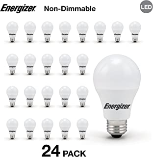Energizer A19 40 Watt Equivalent LED Light Bulb, 24-Pack, Warm White (Non-Dimmable)