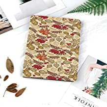 Printed Smart Case for iPad 9.7 2018/2017,Lightweight Smart Cover with Auto Sleep/Wake,Hard Back Cover for iPad 9.7 iPad 5th / 6th Generation,Rowan,Fall Season Themed Mixed Pattern with Maple Birch Oa