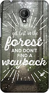 Micromax Canvas Spark Q380 Case, Premium Handcrafted Designer Hard Shell Snap On Case Shockproof Printed Back Cover for Micromax Canvas Spark Q380 - Lost in Forest