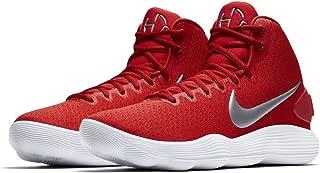 Men's React Hyperdunk 2017 Basketball Shoes (7.5, University Red/Met Silver-M)