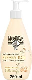 Le Petit Marseillais Lait Corps Hydratant, Réparation, au Beurre de Karité, Aloes et Cire d'Abeille, Pour Peaux Très Sèche...