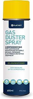 Platinet PFS5160, Spray aire comprimido para limpieza de equipos de oficina y otros aparatos electroacute, 600 ml