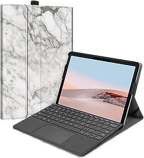 Fintie Hülle für Surface Go 2 2020 / Surface go 2018 10 Zoll Tablet   [Multi Sichtwinkel] Hochwertige Kunstleder Schutzhülle Tasche Etui Cover Case mit Stylus Halterung, Marmor Muster