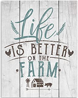 Life Is Better On The Farm Wall Decor - 11x14 Unframed Art Print - Great Farm House Decor and Gift to Farm Owners, Also Makes a Great Gift Under $15 (Printed on Paper, Not Wood)