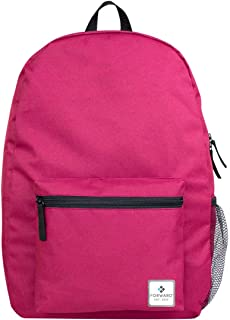 "US Quality Forward Basic 17"" Backpack with Side Mesh Pocket for School, Travel, Summer Camp, Outdoors"