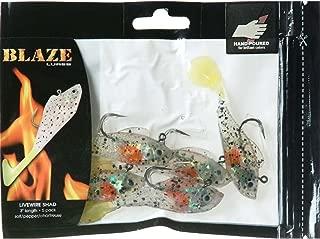 Blaze Rigged Shad Grub Fishing Lures (5-Pack)