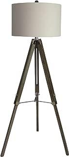 Martin Richard W-2026SIL Floor Lamp, 60, Weathered Grey/Polished Nickel