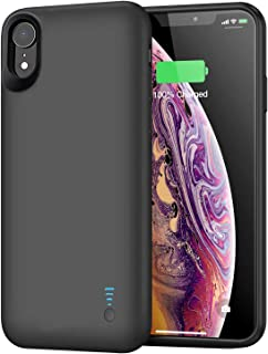 Battery Case for iPhone XR, 6000mAh Portable Protective Charging Case Extended Rechargeable Battery Pack for iPhone XR (6.1 inch) Charger Case-(Black)