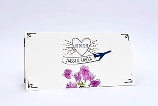 Partecipazioni matrimonio personalizzate - inviti nozze biglietto aereo con porta biglietto personalizzato 10 pz