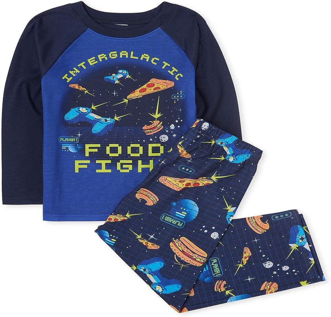 The Childrens Place Boys Long Sleeve Pajama Set