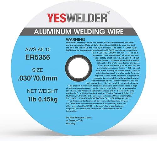 high quality YESWELDER Magnesium Aluminum discount Welding Wire ER5356 .030-Diameter, sale 1-Pound Spool online sale