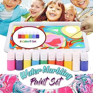 Uscharm Arts Watercolor Paint Artist Set, Water Marbling Painting Kit Ebru Creative Marbling Art Craft Paints Ideal for Kids, Artist & Hobby Painters(6 Color/1 Set)