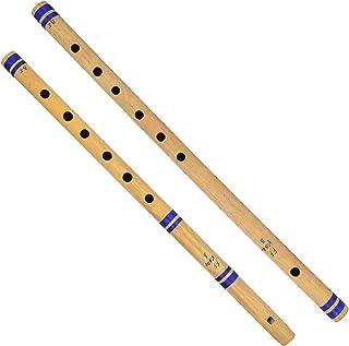 ShalinIndia Bamboo Flute Bansuri, Set Of 2, Fipple & Transverse, For Amateurs