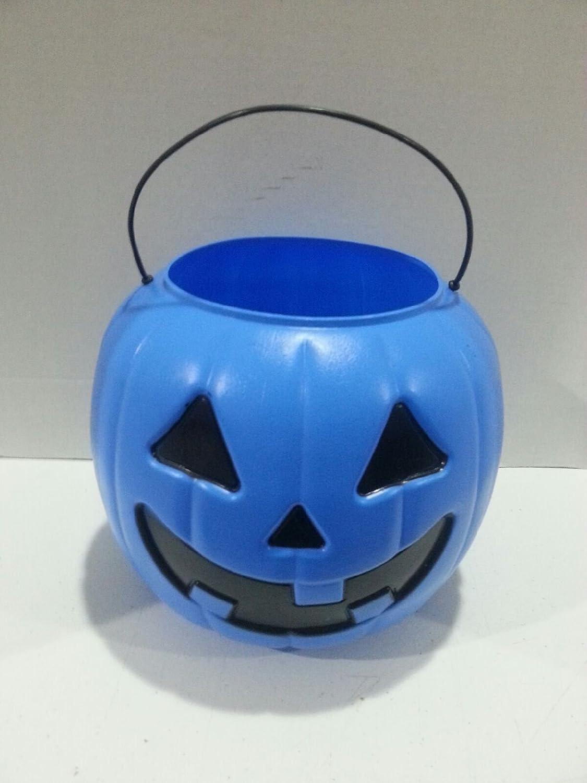 Blue Jack O Lantern Trick or Treat Bucket for Autism Awareness