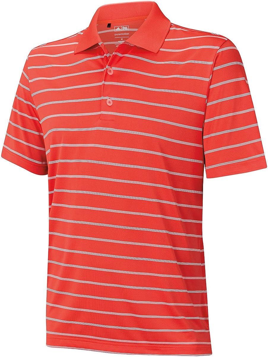 Adidas Golf Men's Two-Color Excellent Our shop OFFers the best service Stripe Polo Shirt L - Res Hi US Re