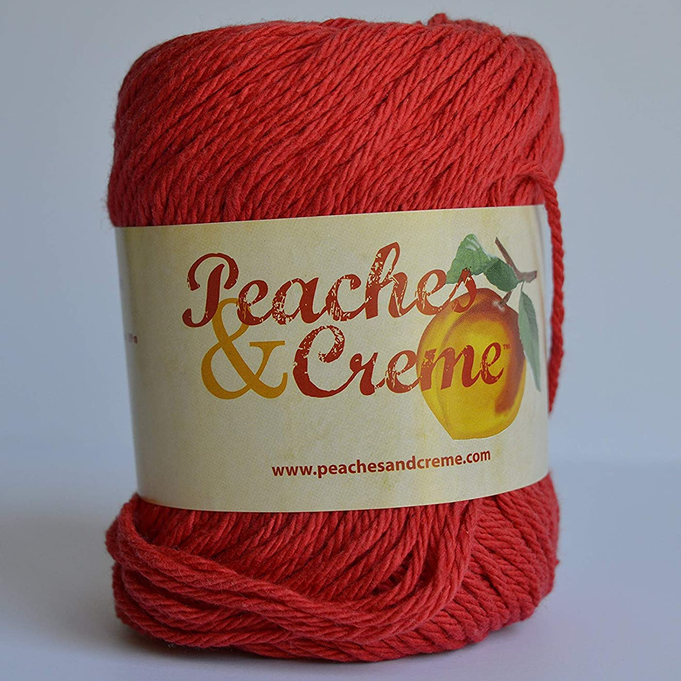 Spinrite Peaches & Creme (Cream) Cotton Yarn Red 2.5 oz