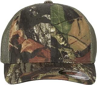 Premium Original Blank Flexfit Mossy Oak Stretch Mesh Trucker Cap